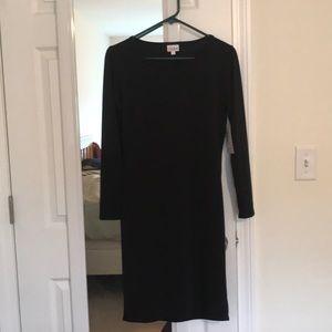 Solid black LuLaRoe Debbie Dress